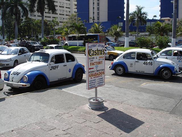 Castro's taxi VWs.