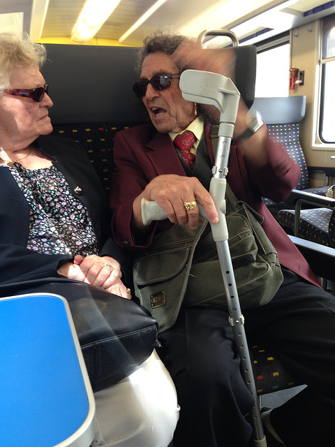 Train conversation