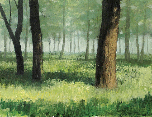 Forest (=숲=林=Arbaro)_oil on canvas=olee sur tolo_50x65.2cm(15p)_2008_HO Song