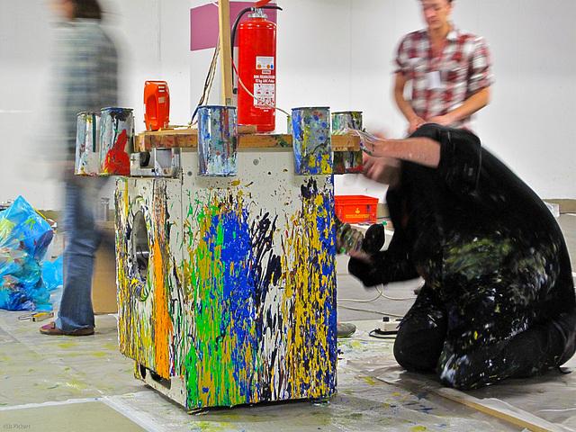 Action Painting Washing Machine