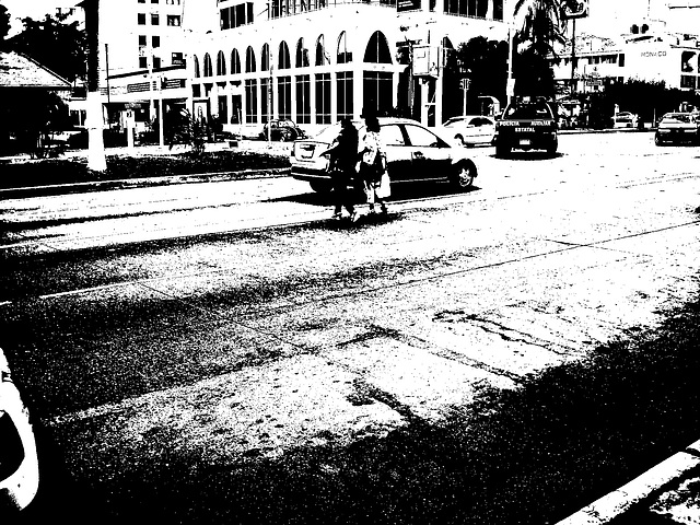 Mexico city / 8 février 2011 - Bichromie en N & B