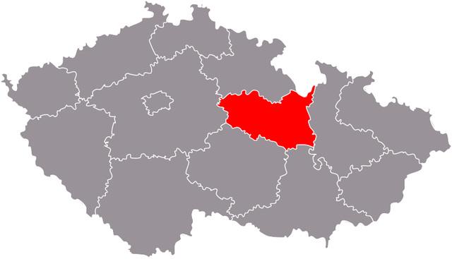 Regiono Pardubice  sur la mapo de Ĉeĥio