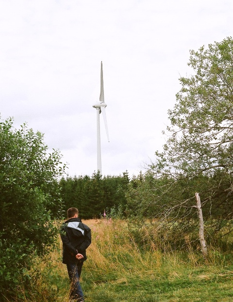 A l'étang des Barthes - éolienne