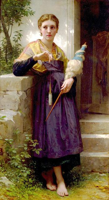 La Fileuse, œuvre de William-Adolphe Bouguereau