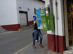 Ixtapan de la sal, Mexico DF. Mexique / 6 avril 2011 - Anonymous spy / Espion anonyme !