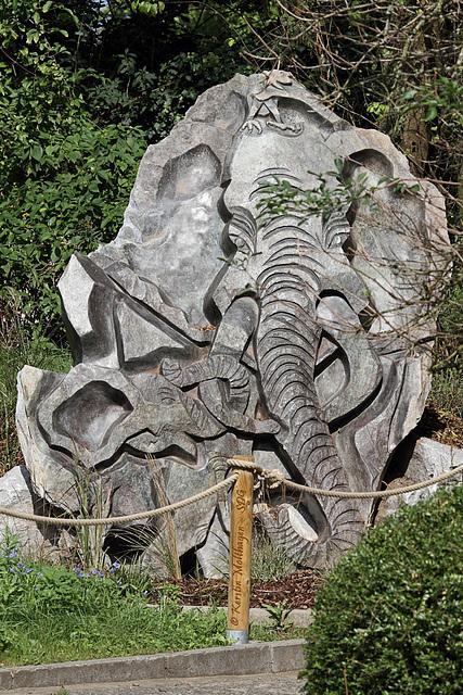 Elefanten-Standbild (Zoo Heidelberg)