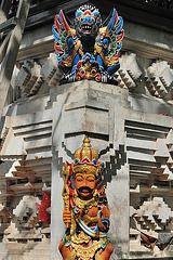 Sculture in the Pura Dalem Semawa temple
