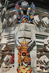 Sculture in the Pura Dalem Semawa temple