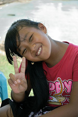 Balinese smiling face girl
