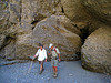 Great Outdoors Hike To The Grottos In Mecca Hills - Kirk & Scott at Grotto #1