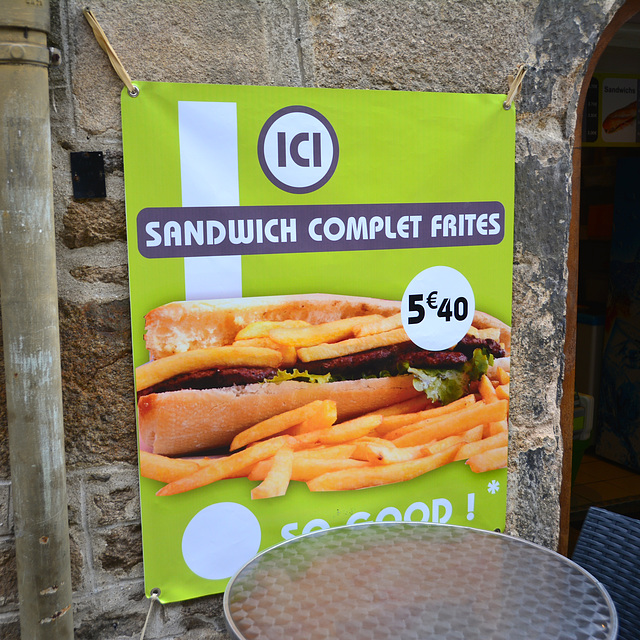 Dinan 2014 – Sandwich Complet Frites
