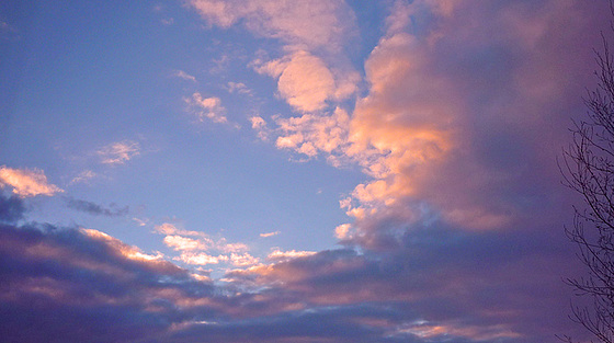 Des nuages rosés !
