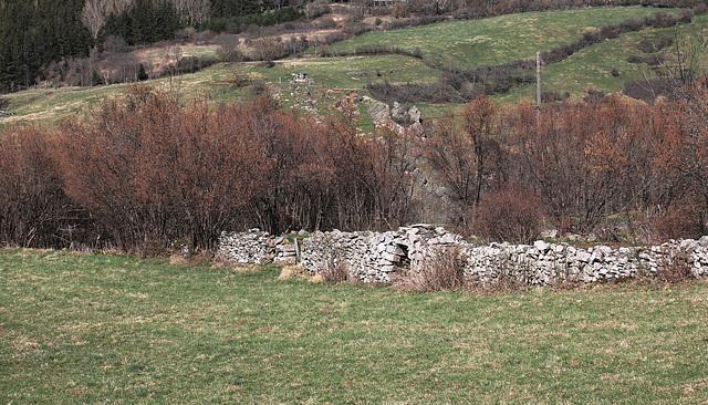mur avec abris de berger