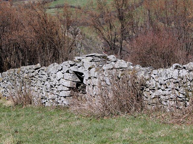 mur à abris de berger