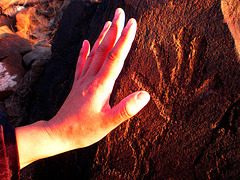 Segunda imagen del Tríptico Impronta. La separación desde el tiempo ancestral....