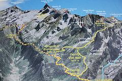 Karte von den Aravis