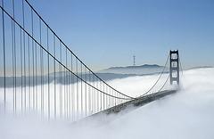 Golden ( white ) Gate Bridge