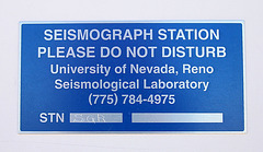 Death Valley National Park - Seismographic Equipment (9583)