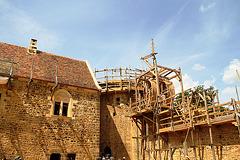 La tour maîtresse et le logis - Guédelon