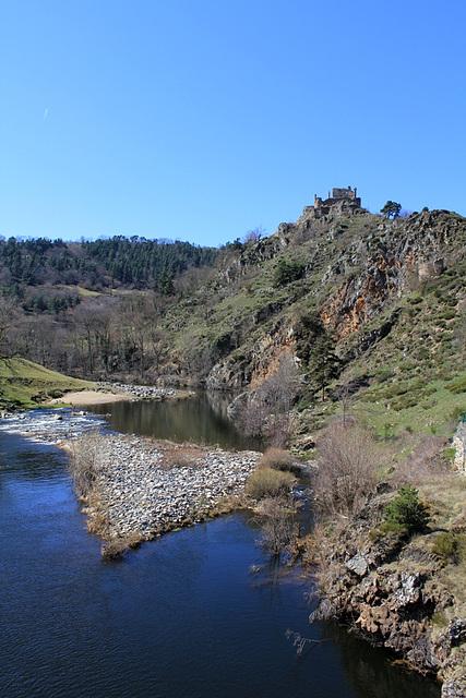 La loire , du grand pont, à 35 km de sa source