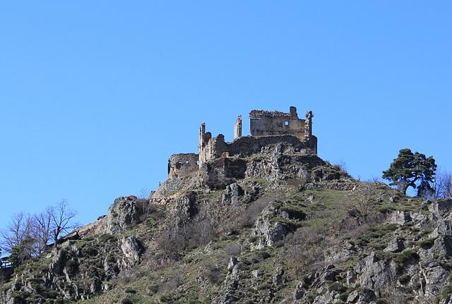 les ruines du vieux château de Beaufort