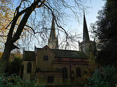 two churches of st. mary, stoke newington, london