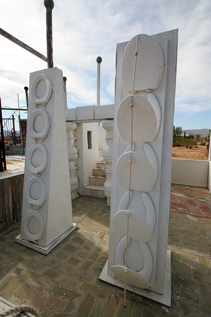Noah Purifoy Outdoor Desert Art Museum - The White House (9850)