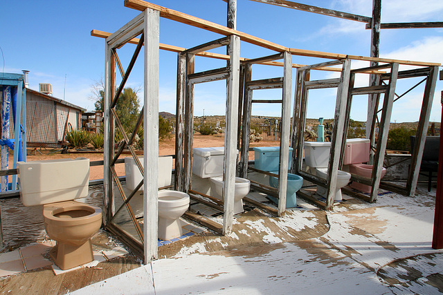Noah Purifoy Outdoor Desert Art Museum - The White House (9859)
