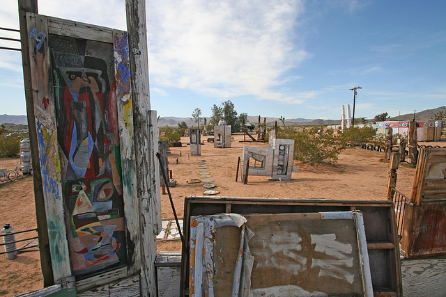 Noah Purifoy Outdoor Desert Art Museum - The White House (9864)