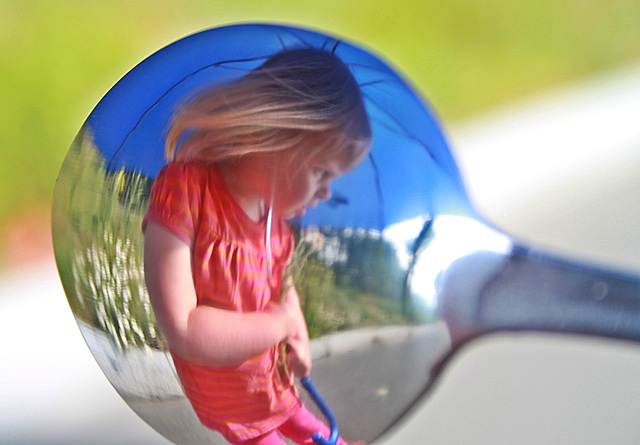 """der """"Blaue Schirm"""" im Spiegel"""