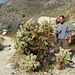Kirk & Cholla on the trail to Maidenhair Falls in Anza-Borrego (1637)