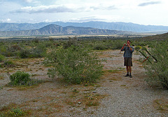 Kirk on the trail to Maidenhair Falls in Anza-Borrego (1626)