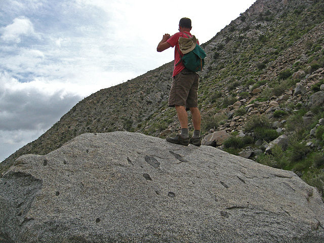 Kirk on the trail to Maidenhair Falls in Anza-Borrego (1639)