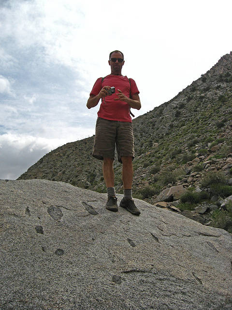 Kirk on the trail to Maidenhair Falls in Anza-Borrego (1640)