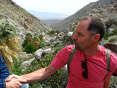 Kirk on the trail to Maidenhair Falls in Anza-Borrego (1650)