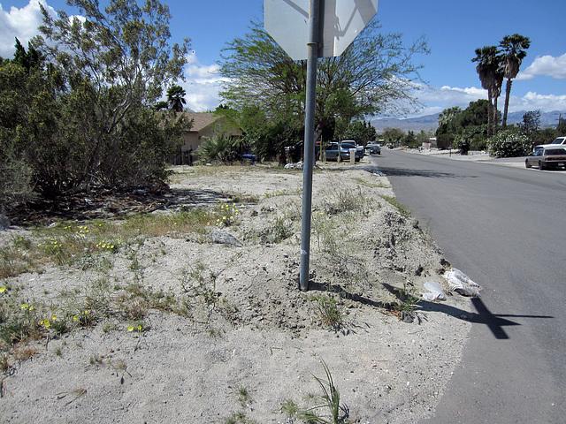 Mound of dirt at Mesquite & Cahuilla (0306)