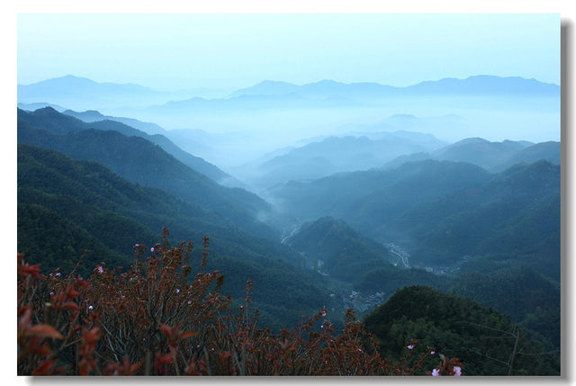 Mountainous area in the morning
