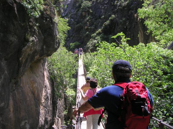 Puente colgante de los Cahorros-Granada