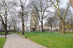 London. Ein Park. Ehemals Friedhof.