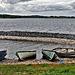 Boote am Ufer des Lough Allen