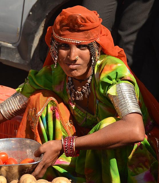 India. Tribal woman