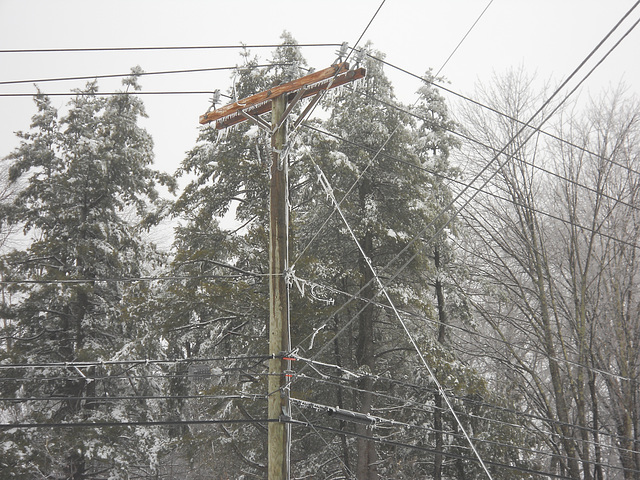 Icy Power Pole