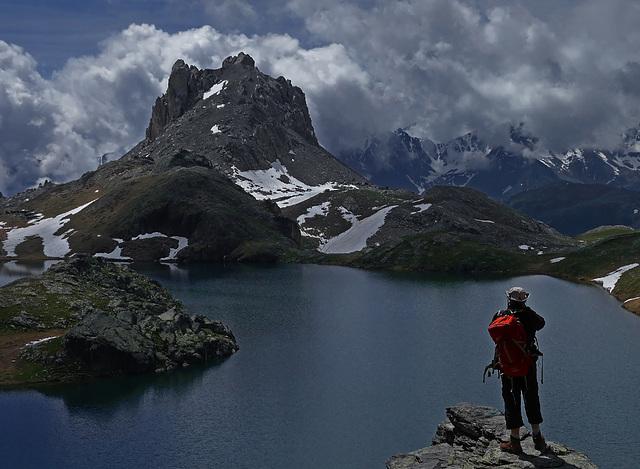 Le lac du Roburent............La gifle.............Italie.