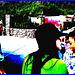 Jeune asiatique à chapeau chaud / Young asian Lady with a warm hat -  Disney Horror pictures show - Orlando, Florida - USA / 30 décembre 2006-  Version très postérisée