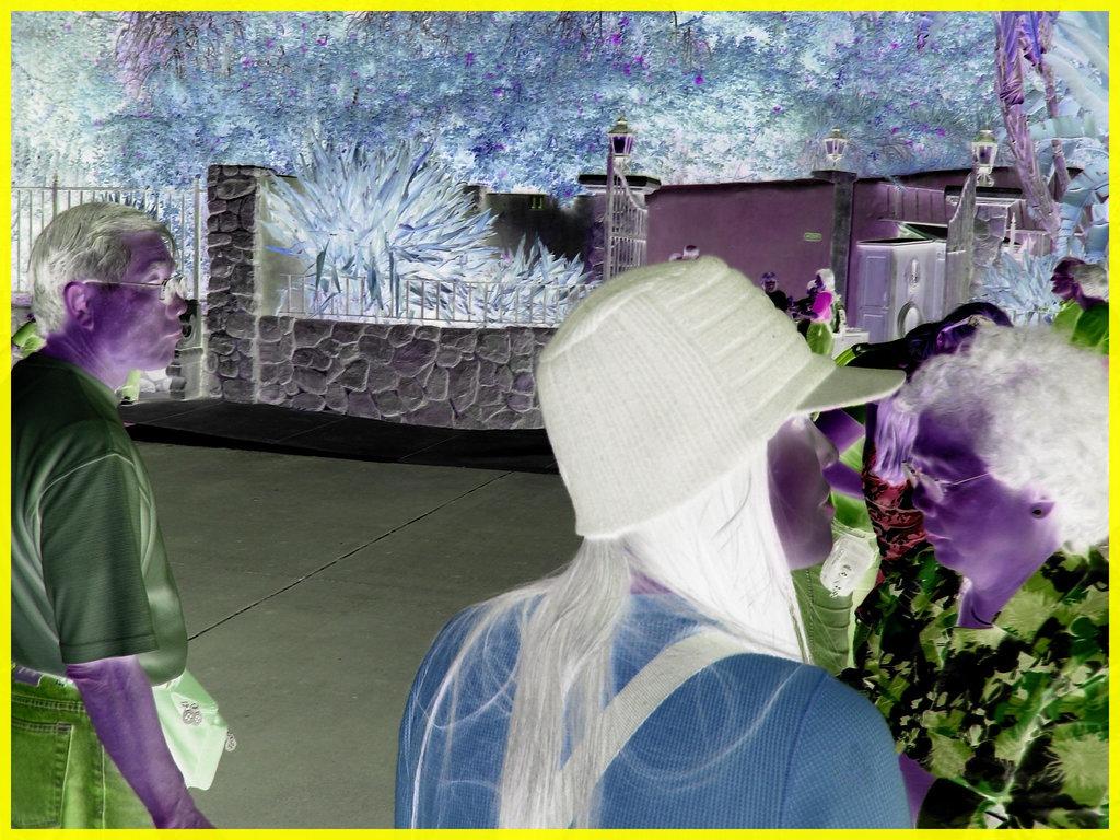 Jeune asiatique à chapeau chaud / Young asian Lady with a warm hat -  Disney Horror pictures show - Orlando, Florida - USA / 30 décembre 2006 - Négatif RVB - VRB