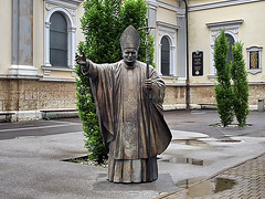 P6084545ac Hyper Realistic Bronze Statue of Holy Pope John Paul II