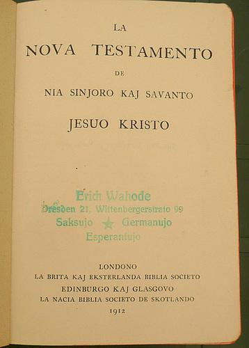 Das Neue Testament - la Nova Testamento von 1912