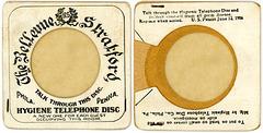 Hygienic Telephone Disc, Bellevue-Stratford Hotel, Philadelphia, Pa., 1906