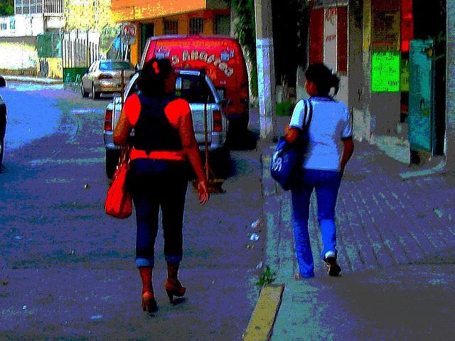 Acapulco, Guerrero. Mexique /  9 février 2011. - BD aux couleurs ravivées et postérisées
