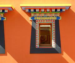 Jeux d'ombres sur une belle fenêtre de style thibétain